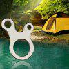 Outdoor EDC Equipment 3-hole Stainless Steel Multi-purpose Fast Knot Rope Buckle Tool - SILVER