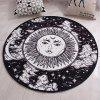 Round Entry Door Mat Cartoon Handmade Rug - MULTI-A
