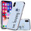Stylish TPU Material Diamond Varnish Embossed Mobile Phone Case for iPhone X / XS - TRANSPARENT