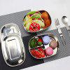 Stainless Steel Square Multi-layer Buckle Lunch Box - SILVER