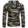 Men Comfortable Jacket Leisure Hooded Classic Camouflage - DARK GREEN