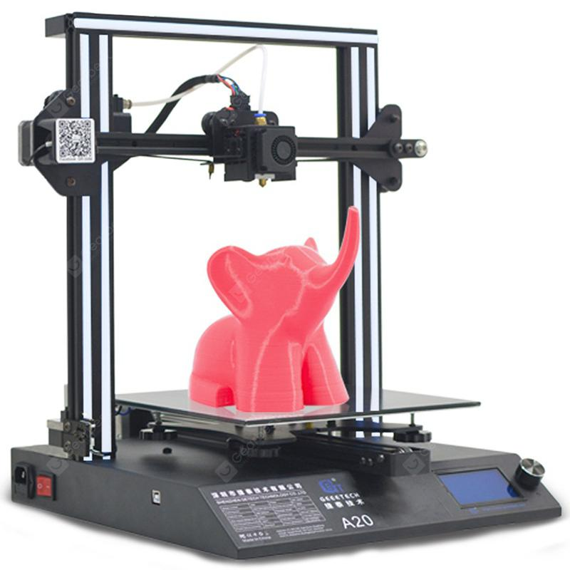 GEEETECH A20 3D Printer- NATURAL BLACK EU PLUG