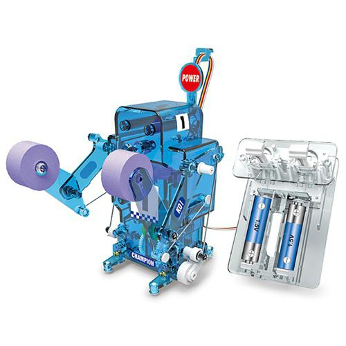 Izobraževalna zbirka Toy Kit DIY Boxing Robot Fighter - DAY SKY BLUE