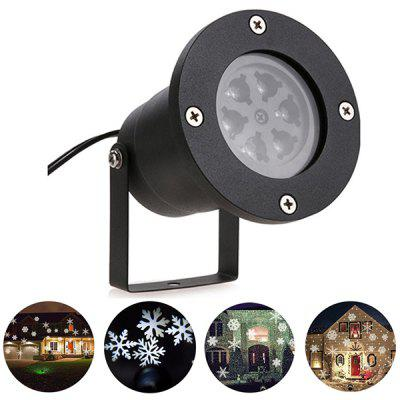 White Light 12W Outdoor Snowflake Projection Lamp Christmas Lights Halloween Lights