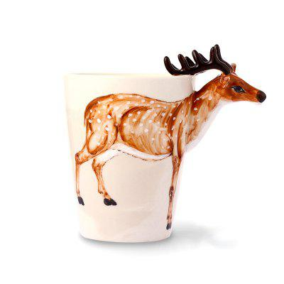 3D Stereo Animal Cup Cuplu manual Painted Ceramic Cup Cute Cartoon Mug Cupa Cupa Cupa de Cafea 350ML