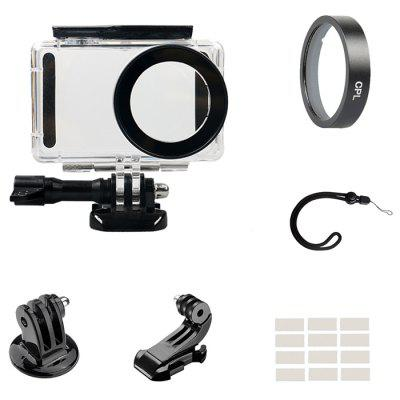 Applicable To Xiaomi Mi Small Camera CPL Polarizer + Waterproof Shell + Hand Rope + J Type Seat + Adapter + Anti-fog Wipes Set