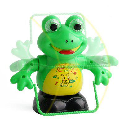 Electric Jumping Rope Frog Flip Jumping Rope Flash Music Puzzle Cartoon Plastic Frog Toy