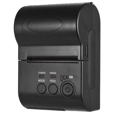 SP1569 POS - 5801LN 58MM Bluetooth Thermal Printer Supports Bluetooth 1 to 8 Mobile Phone Android Apple System with Lithium Battery (with CD) US 100-240V