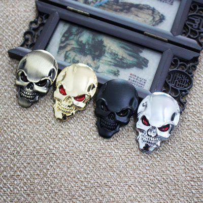 Car Metal Skeleton Labeling Stickers Tail Decoration