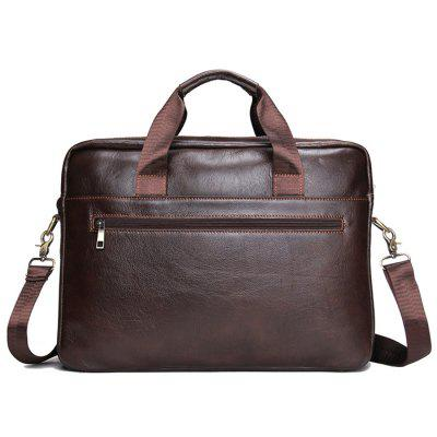 Men's Laptop Business Briefcase First Layer Leather Men's Bag