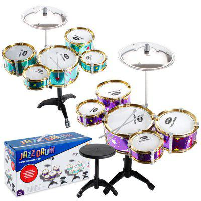 Children Large Five Drums with Chairs Simulation Jazz Children Musical Instrument Set