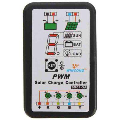 3A 6V-12V PWM Solar Panel Light Controller Battery Charge Regulator Intelligen
