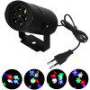 Christmas Lighting LED Snowflake Projection Lamp 4W with Four Patterns - BLACK