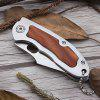Multi-purpose Outdoor Utility Folding Knife Stainless Steel Wild Rescue Fruit Pocket Tool - SILVER