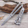 Uncut All-steel Butterfly Sickle Novice Practice Butterfly Knife Beginner Butterfly Practice Knife Training Sickle - SILVER