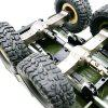 WPL B16 B-16 1-16 Military Truck RC Car Parts Upgrade Metal Front Center Rear Axle Assembly JJRCQ60 - RED