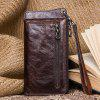 Men Multifunctional Casual Wallet Leather - COFFEE