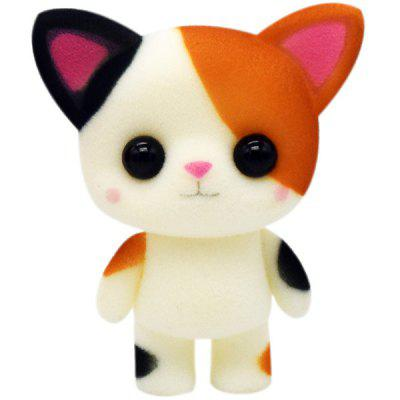 Cartoon Doll Small Flower Cat Flocking Toy Girl Decorative Ornaments Creative Doll