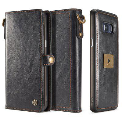 PU Oil Wax Retro Pattern Multi-function Wallet Phone Cover For Samsung S8