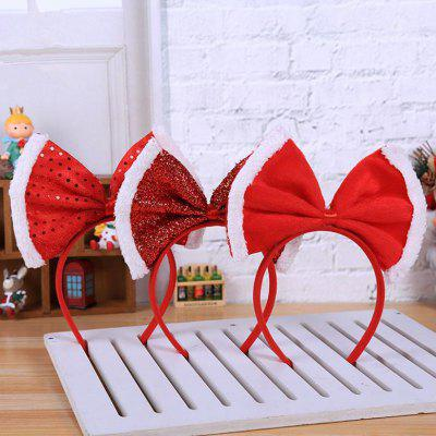 Christmas Party Decoration Bow Princess Tiara Headband 3pcs