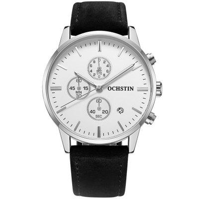 Ochstin 6084A Multi-function Men Quartz Watch High-class Business Waterproof Leather with Box