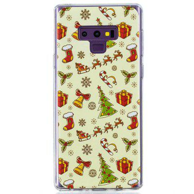 TPU Christmas Gift Pattern Painted Mobile Phone Case for Samsung Galaxy Note 9