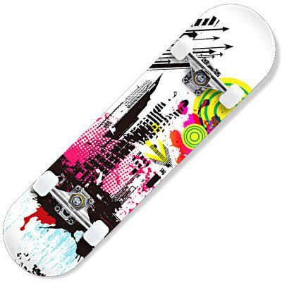 CHIYUAN Four-wheeled Skateboard Beginners Novice Double Rocker Road Adult Children Professional Scooter