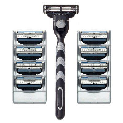 9 - Y1X7 Manual Razor Blade Three-layer Cutter Head Vintage Razor Holder for Health