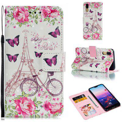 PU Leather Material 3D Pattern Mobile Phone Case for HUAWEI P20