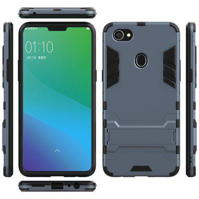 Armor All-inclusive with Bracket Three in One Matte Shatter-resistant Protective Mobile Phone Case for OPPO F7