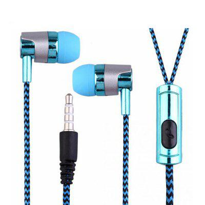 Electroplated Braided Wiring with microphone Headset