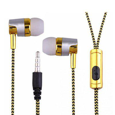 Electroplated Braided Wiring with Wheat Headset