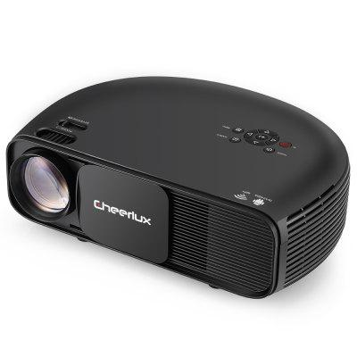 Cheerlux CL760 3000 Lumens Lumens LCD Video Projector BLACK