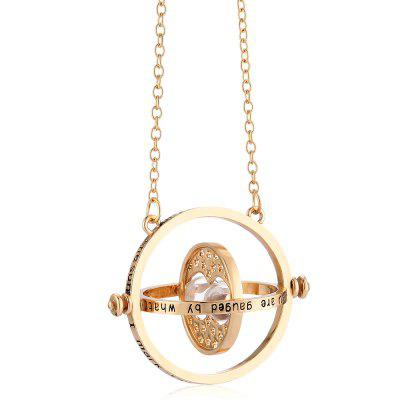 Time Travel Hourglass 18K Gold Necklace