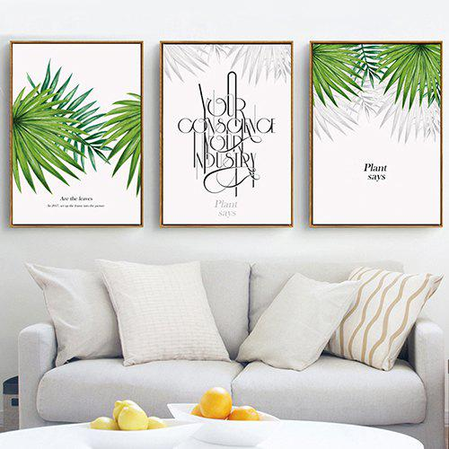 Nordic Small Fresh Watercolor Plant Decorative Painting Living Room Background Painting Leaves Framed Painting Sofa Wall With Frame