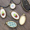 9 - 3C8D9 - 8 Wooden Small Embroidered Stretch Mini Jewelry Cross Stitch Fixed Frame Oval - BEIGE