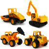Mini Alloy Racing Car Kids Toy 4PCS - ORANGE GOLD