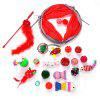 Pet Supplies Tunnel Christmas Series Funny Cat Toy 20pcs - MULTI-A