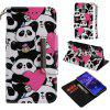 PU Leather Large Hijab Painted Pattern Mobile Phone Cover for HUAWEI Mate 20 Lite - BLACK
