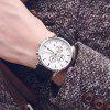 Ochstin 6084A Multi-function Men Quartz Watch High-class Business Waterproof Leather with Box - WHITE