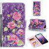 PU Leather Material 3D Painted Mobile Phone Case for Huawei P20 Pro - PURPLE