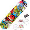 CHIYUAN Four-wheeled Skateboard Beginners Men and Women Novice Double Rocker Road Adult Children Adolescents Professional Scooter - MULTI-A