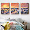 Sunrise Harbour Scenery Living Room Decorative Painting Sea View Dock Sofa Painting Simple Sea Landscape Painting with Frame - DARK SALMON