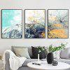Modern Minimalist Rhythm Abstract Psychedelic Line Decoration Painting Geometric Abstract Living Room Bedroom Model Room Hotel Prints with Frame - GRAY GOOSE