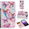 PU Leather 3D Printing Pattern Mobile Phone Case for HUAWEI P20 - PINK