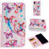 PU Leather Material 3D Painted Pattern Mobile Phone Case for iPhone XS Max - PINK