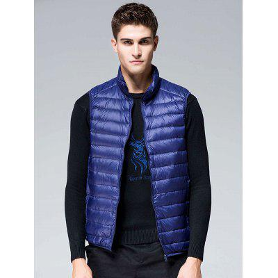 Stand Collar Solid Color Down Vest