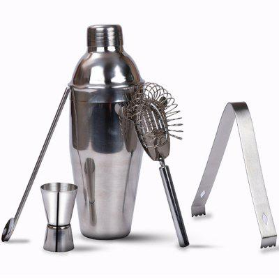 550ML Stainless Steel Cocktail Set Bartending Tool Popsicle Shaker Cup Ice Filter