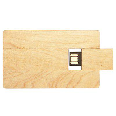 Wooden Business Card USB 2.0 Flash Drive