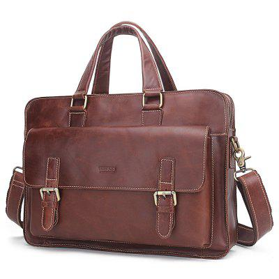 8c6a488fbe6b Business Casual Wear-resistant Microfiber Leather Embossed Men s Bag ...